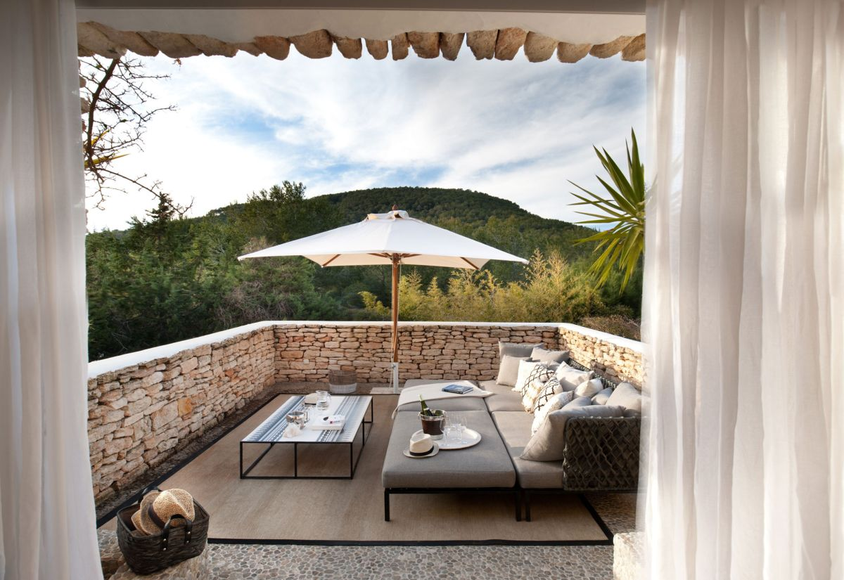 Modern Ibiza home by TG Studio - outdoor terrace seating