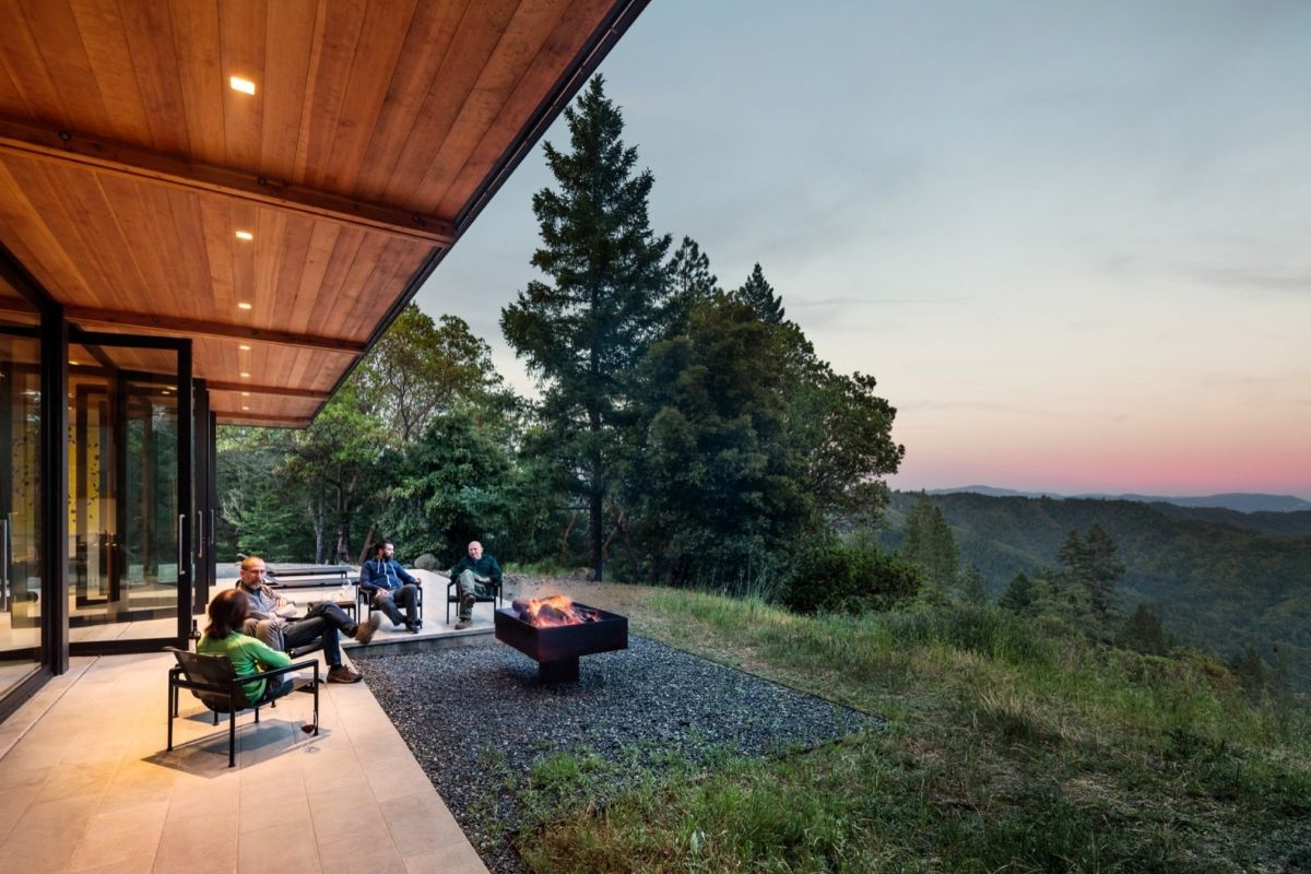 The home was designed to take maximum advantage of the spectacular views.