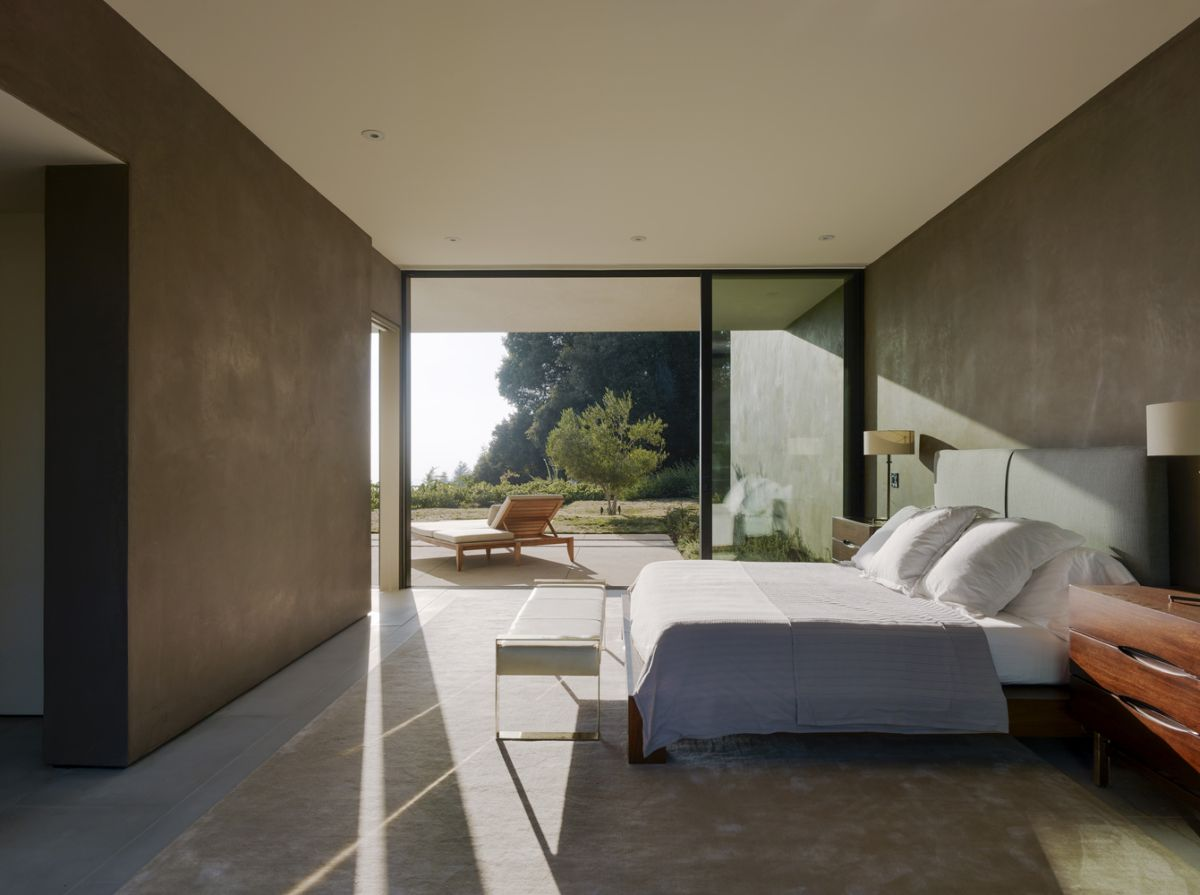 The private sections of the house enjoy more privacy but they too open onto the beautiful outdoor spaces