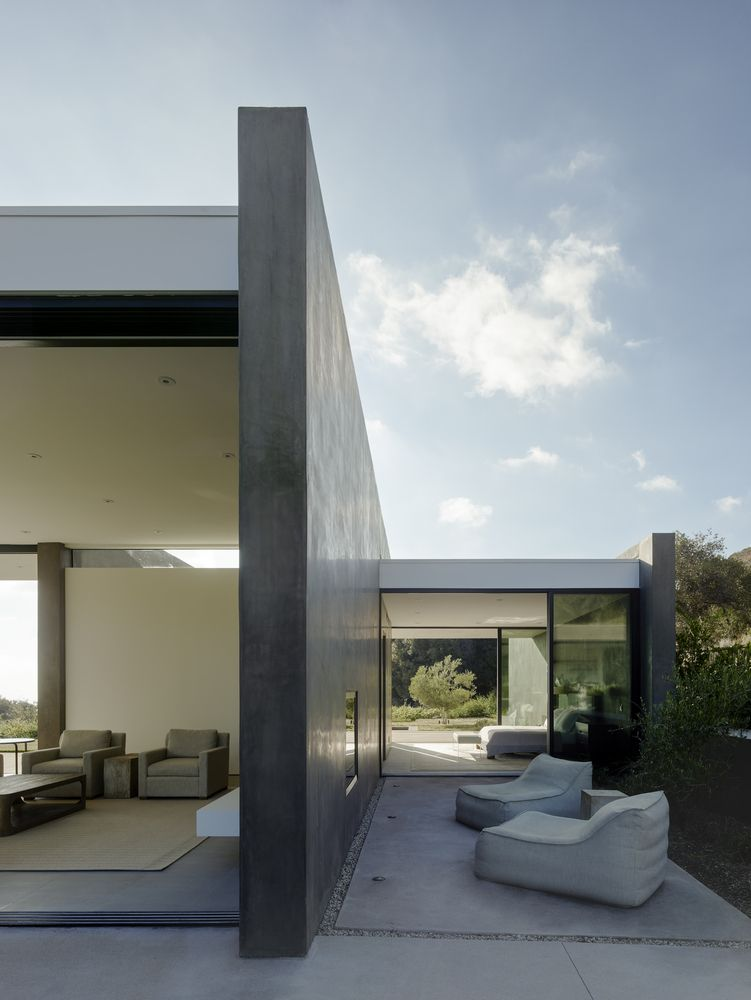 The house is framed by big thick walls which provide good insulation and privacy
