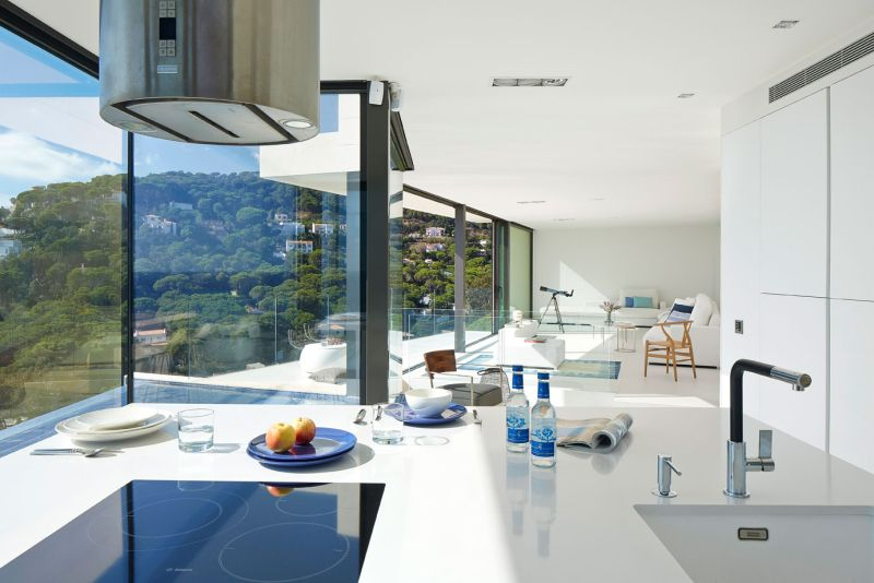 Modern residence in Catalunya kitchen view