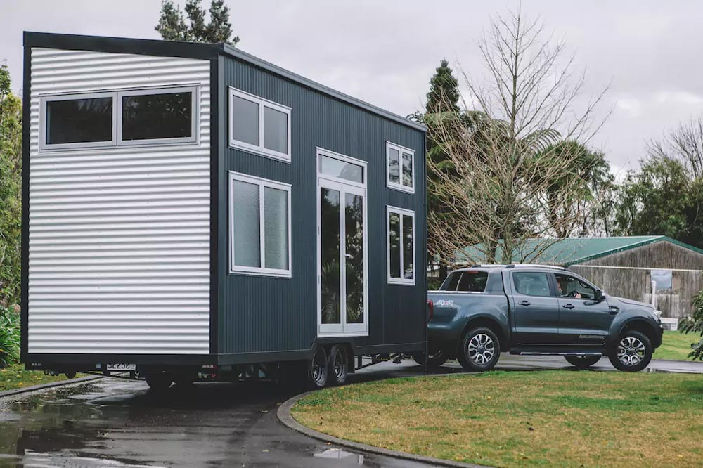 This is a mobile house on wheels which means it can be transported to a new location in order to change the scenery every once in a while