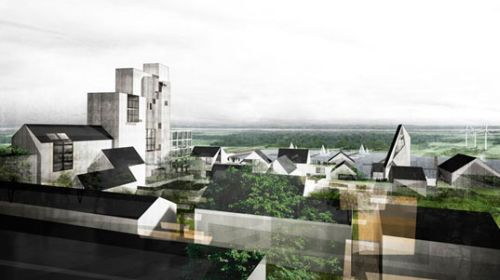 Nordic Town Get Green City Center Complete With Modern Castle1