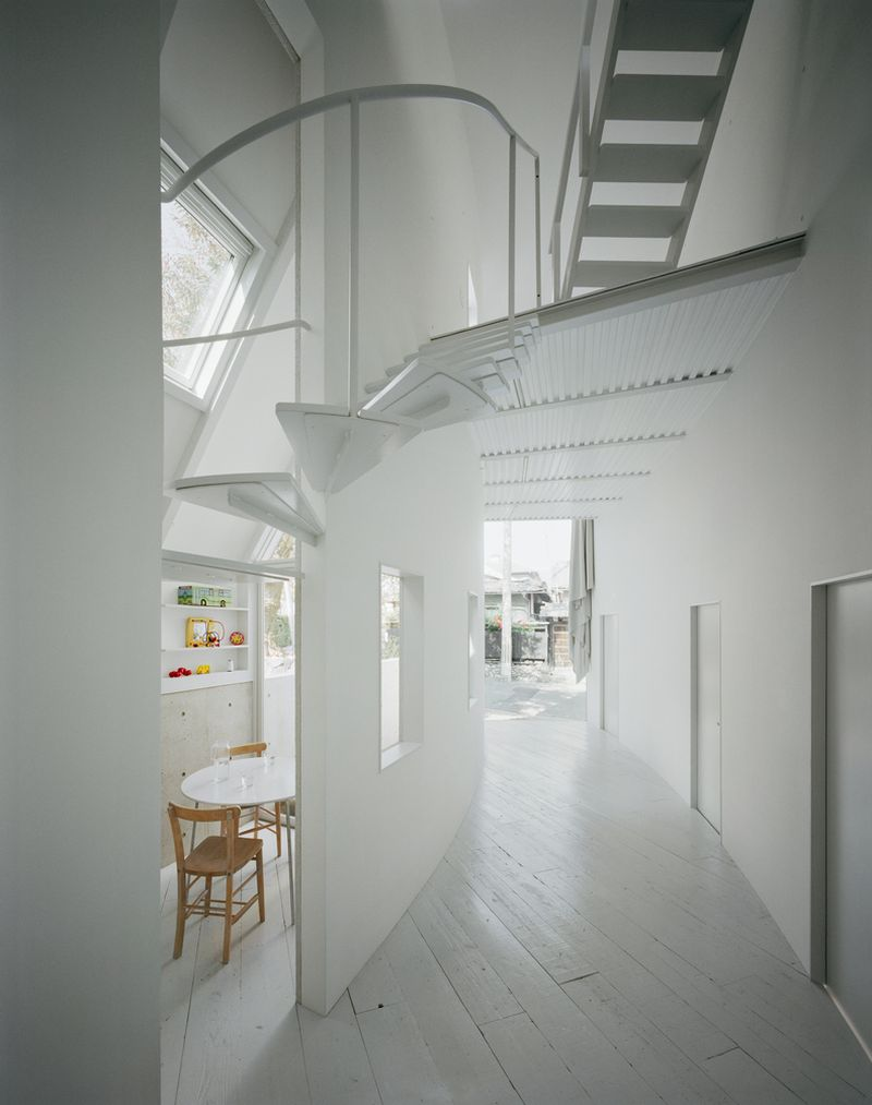 O House extension hallway and dining