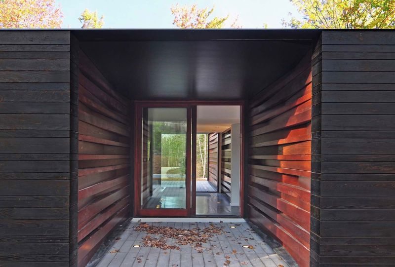 Pleated House entryway