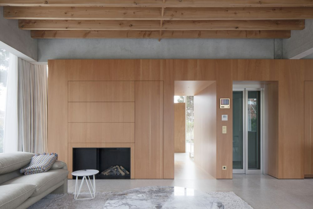 The interior design of the ground floor is modern and minimalistic