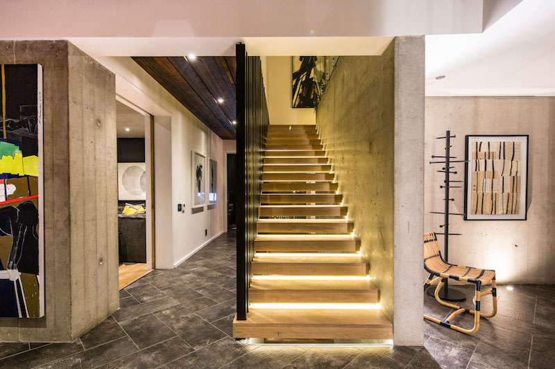Reserve House staircase lighting