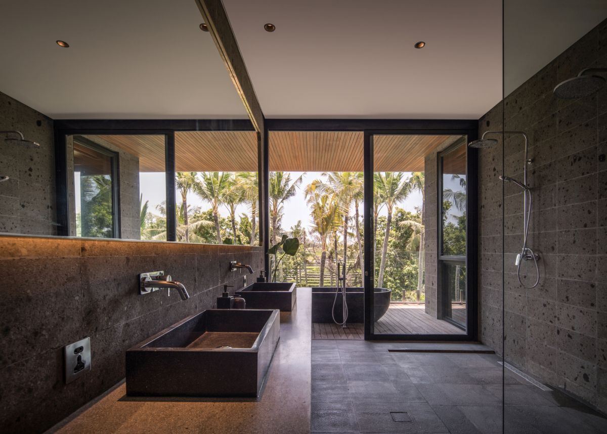 Large windows and big openings are seamlessly incorporated into all sections of the house