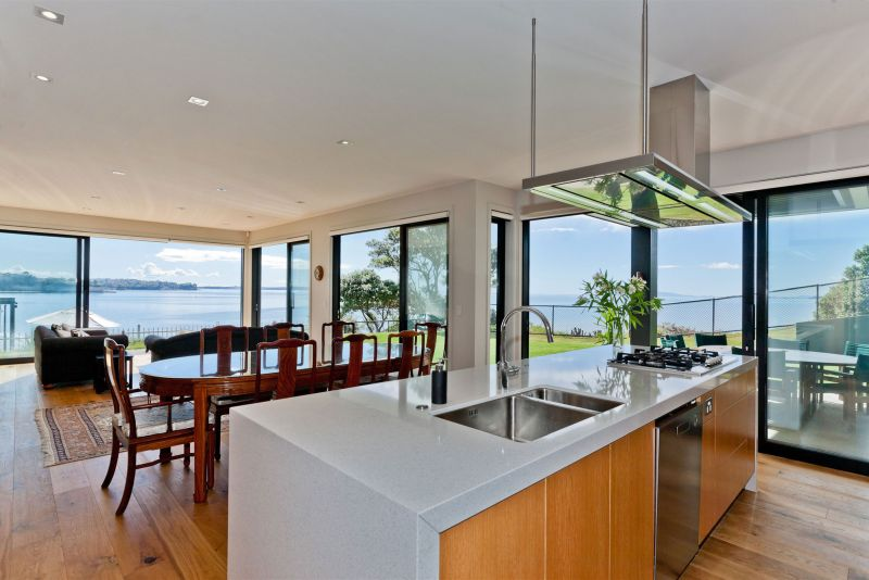 Rothesay Bay house kitchen and dining areas