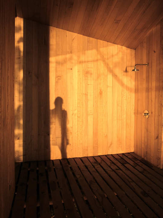 Sauna in Ranco by Panorama Arquitectos Shower