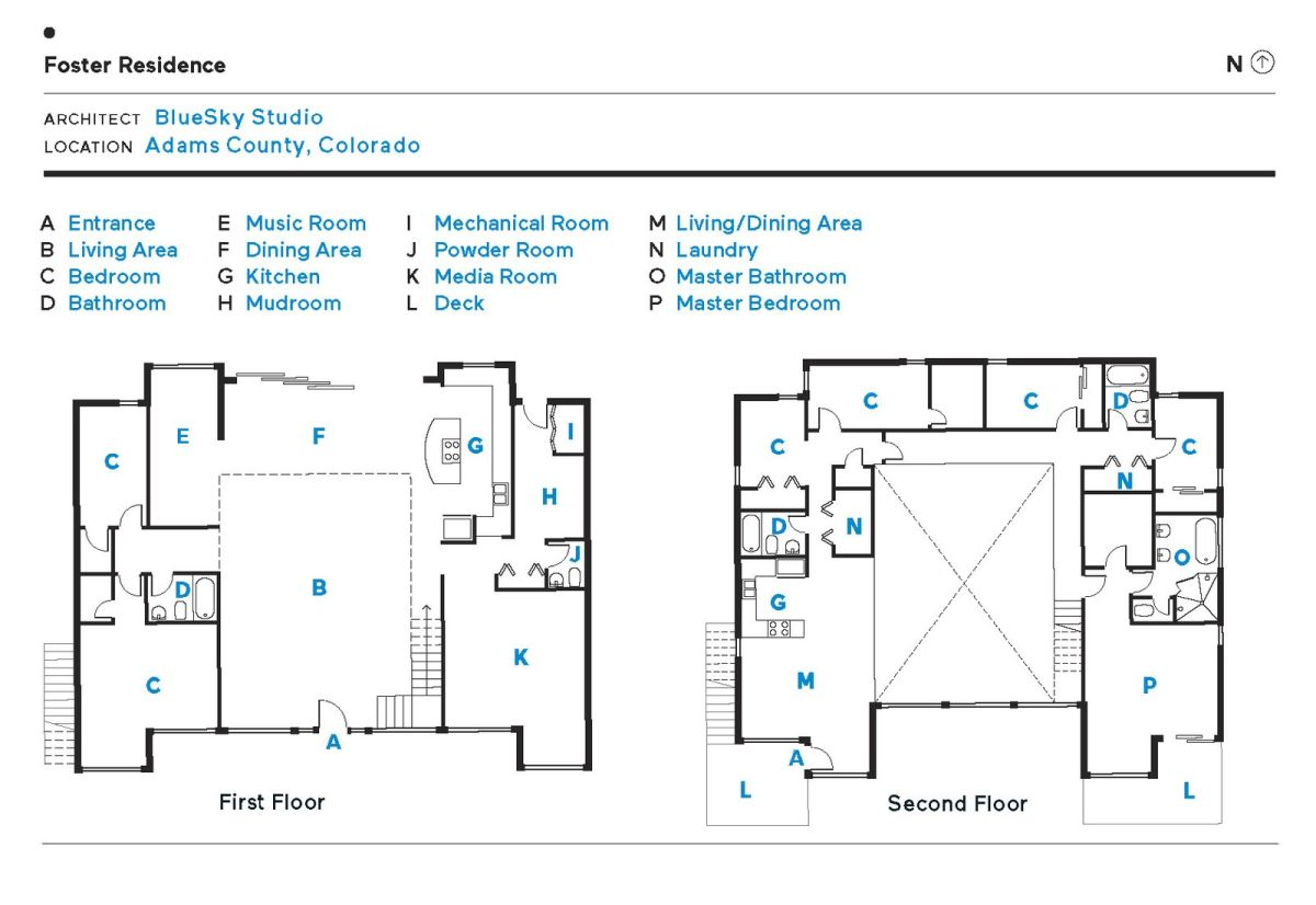 This is how all the different functions and spaces are distributed throughout the house