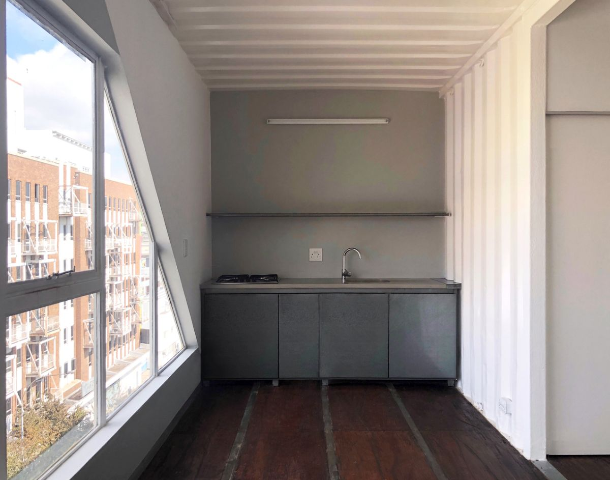 The apartment units range in size from 300 to 600 square feet and share similar interior designs