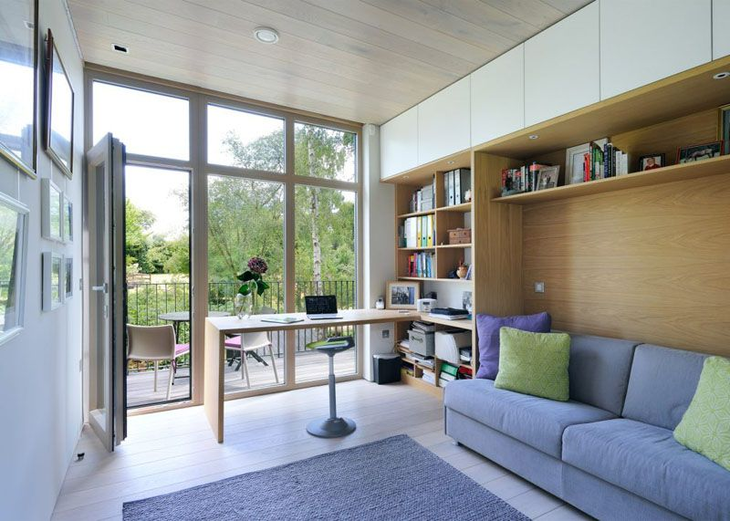 Sustainable mobile home in UK home office