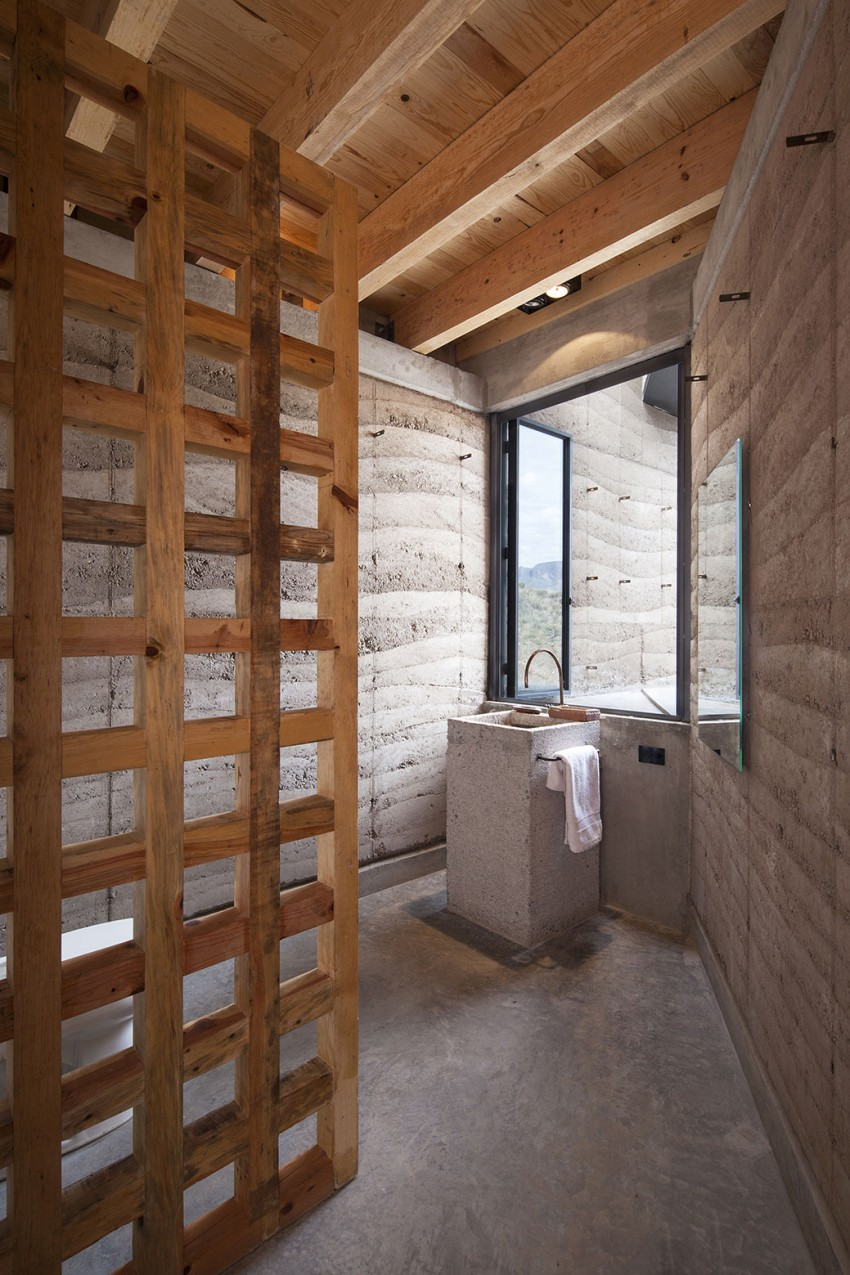The Cave by Greenfield concrete in the bathroom