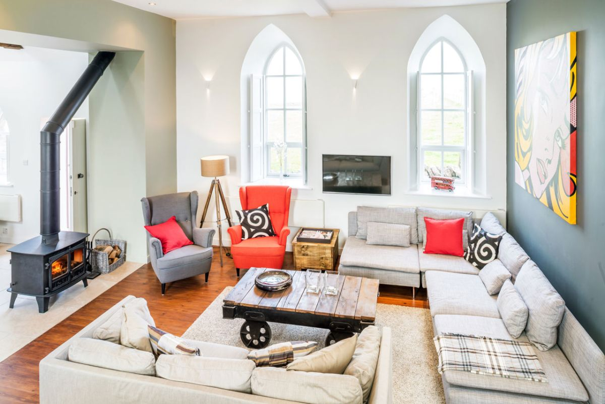 The Chapel holiday cottage living room design