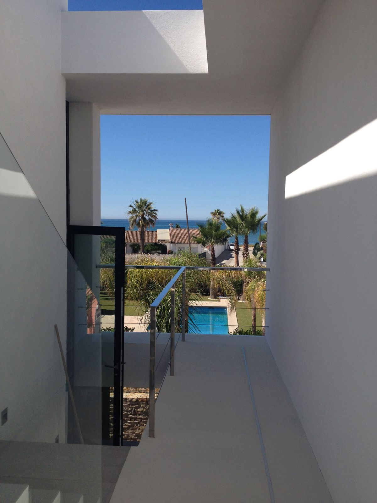 The Cool Blue Villa views from the staircase