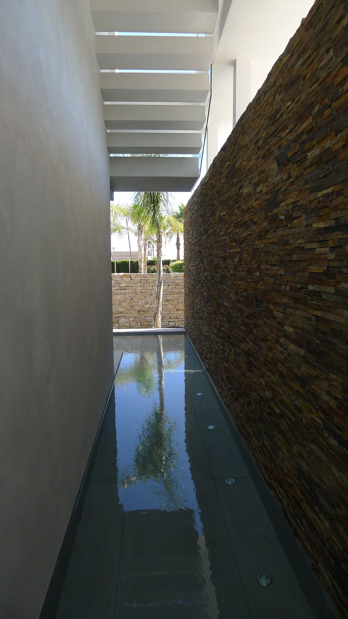 The Cool Blue Villa's one meter canal