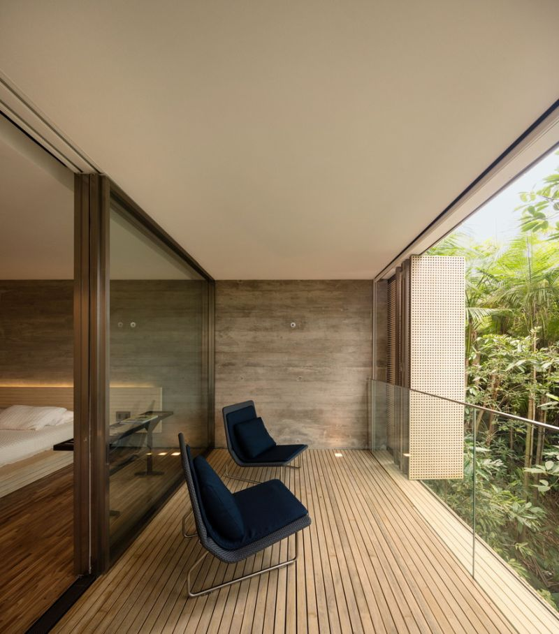 The Jungle House bedroom terrace