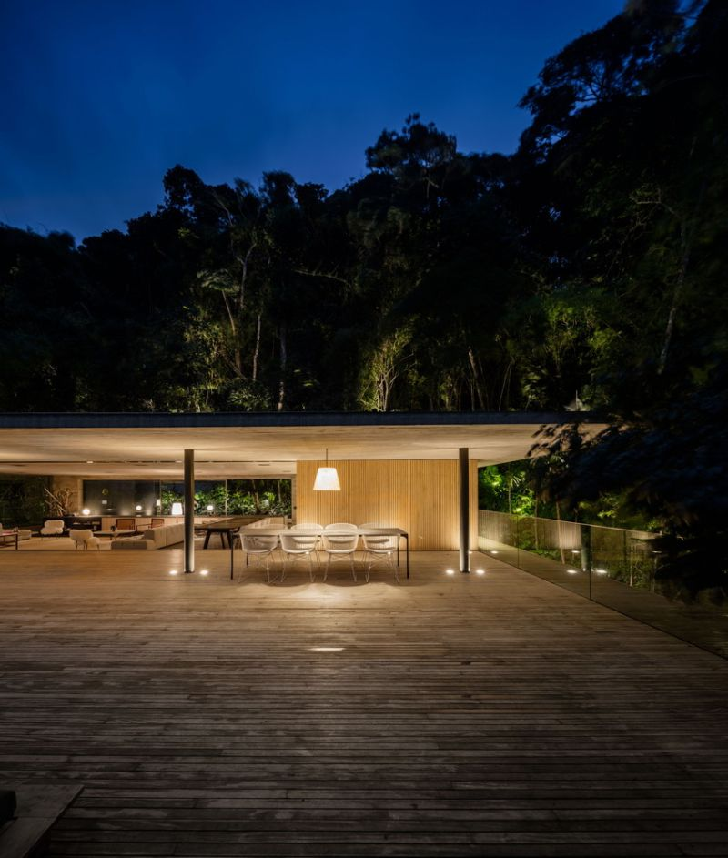 The Jungle House top floor at night