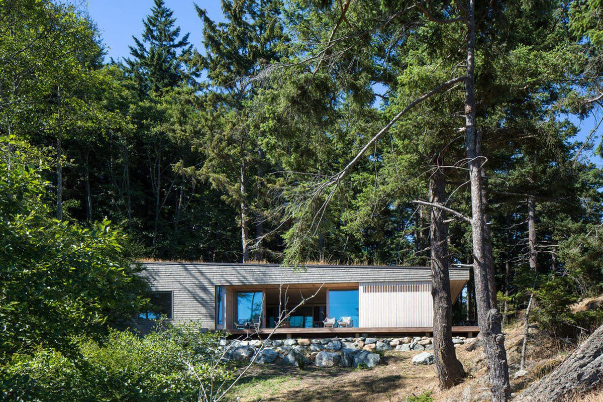 The Lone Madrone retreat front facade