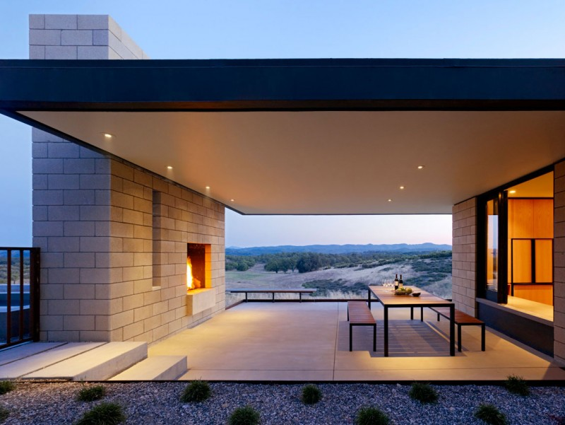 The Paso Robles Residence oudoor porch