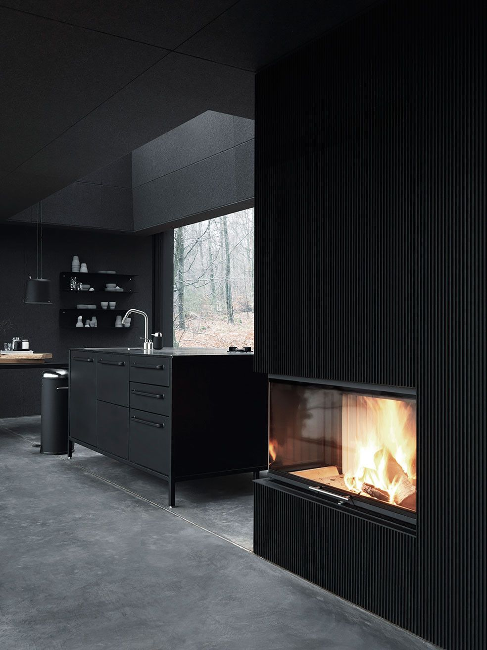 The Vipp Shelter Fireplace