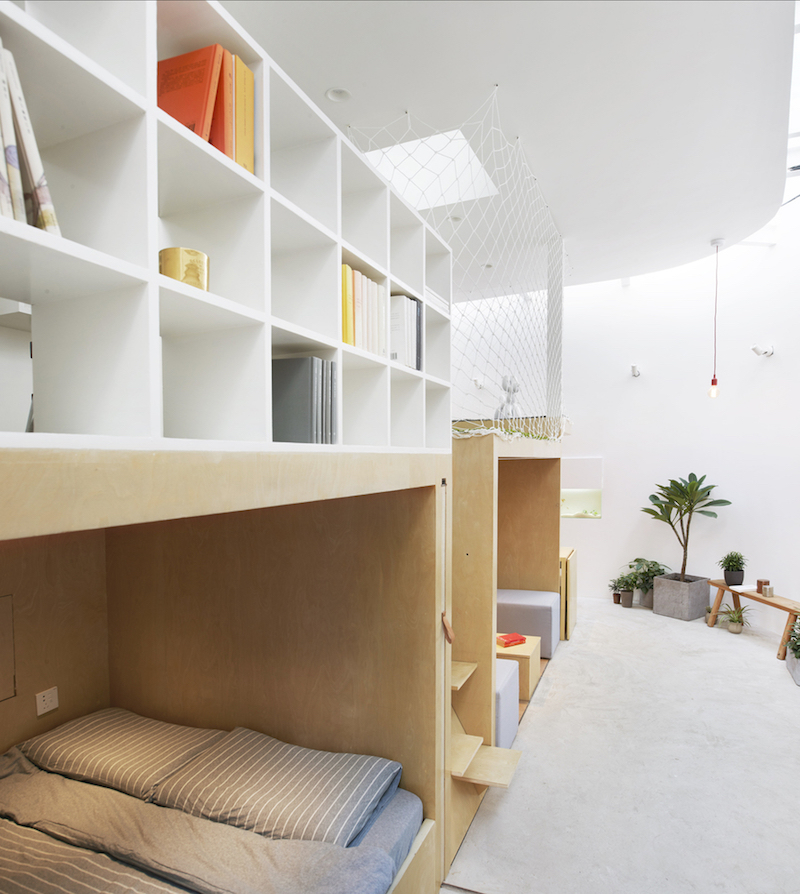 Tiny house in Dongcheng cubbies