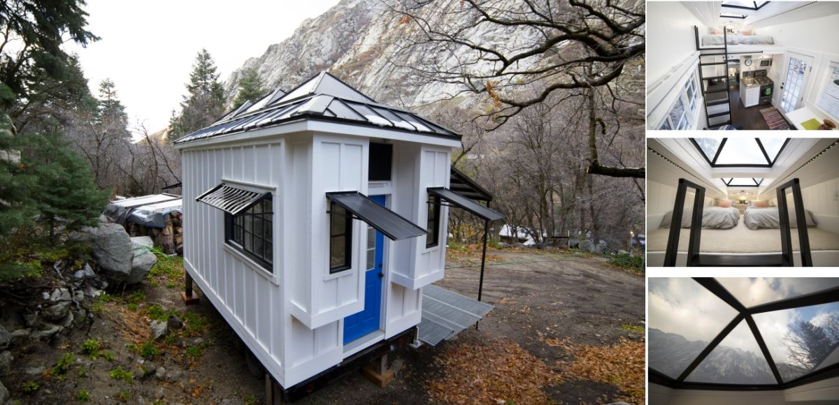 There's a few key features which make this tiny house special and the skylights are one of them