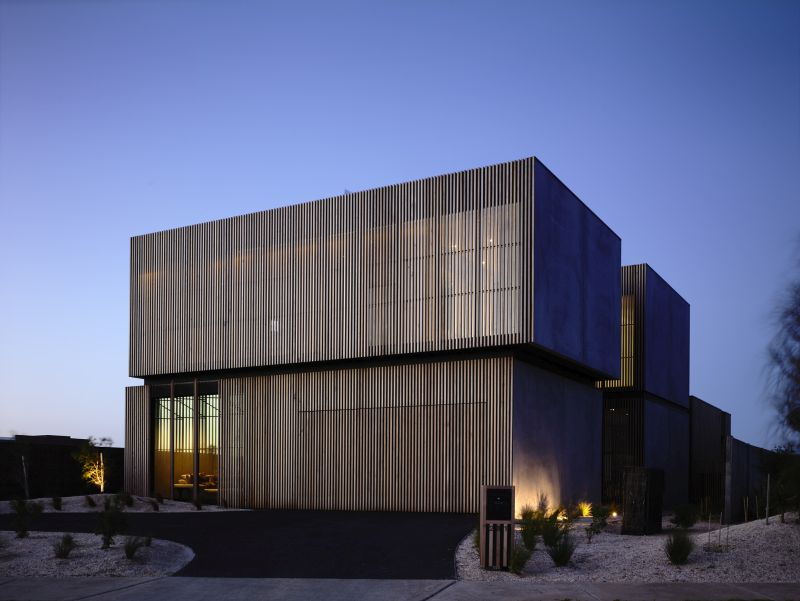 Torquay House by Wolveridge Architects with a dynamic facade view