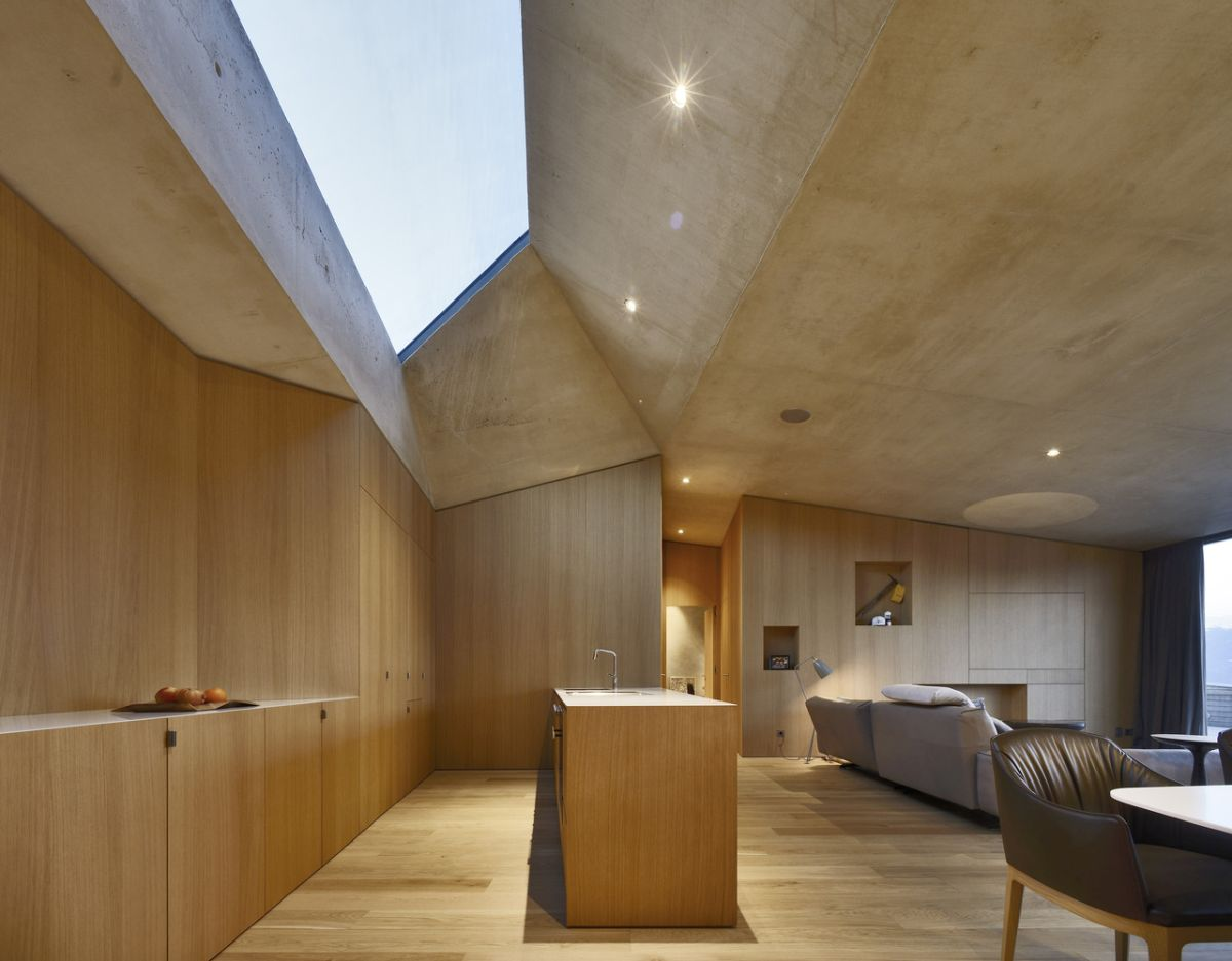 The interior design of the extension is simple and modern but still warm and cozy, just like the original house