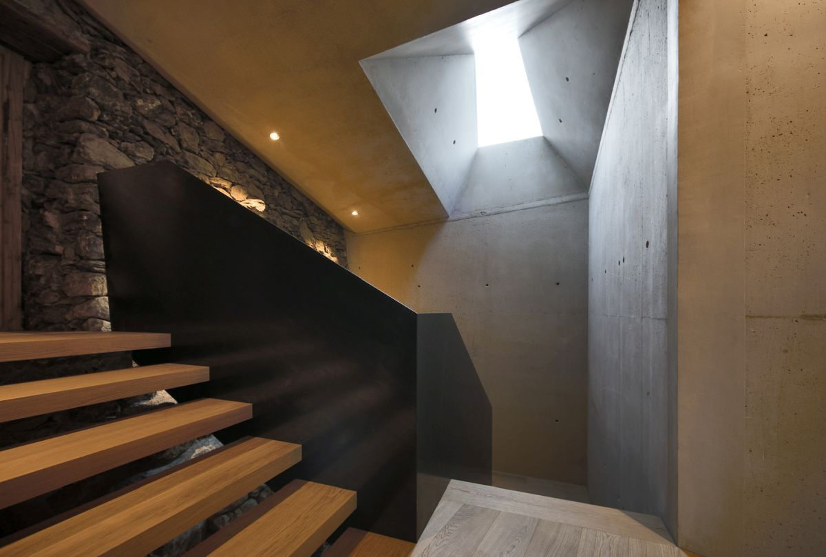 This is the staircase which connects the old house and the new underground extension