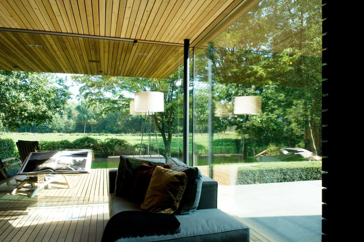Woonhuis M residence makeover living room full height window