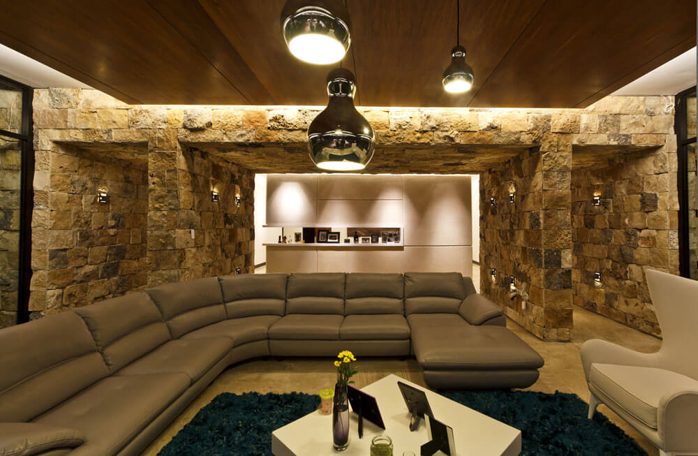Yucatan cantilevered house cozy seating area