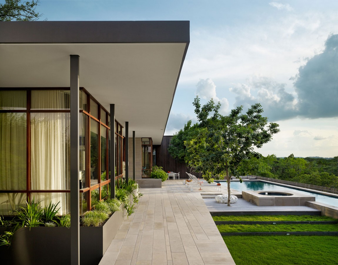 lake view residence exterior terraces