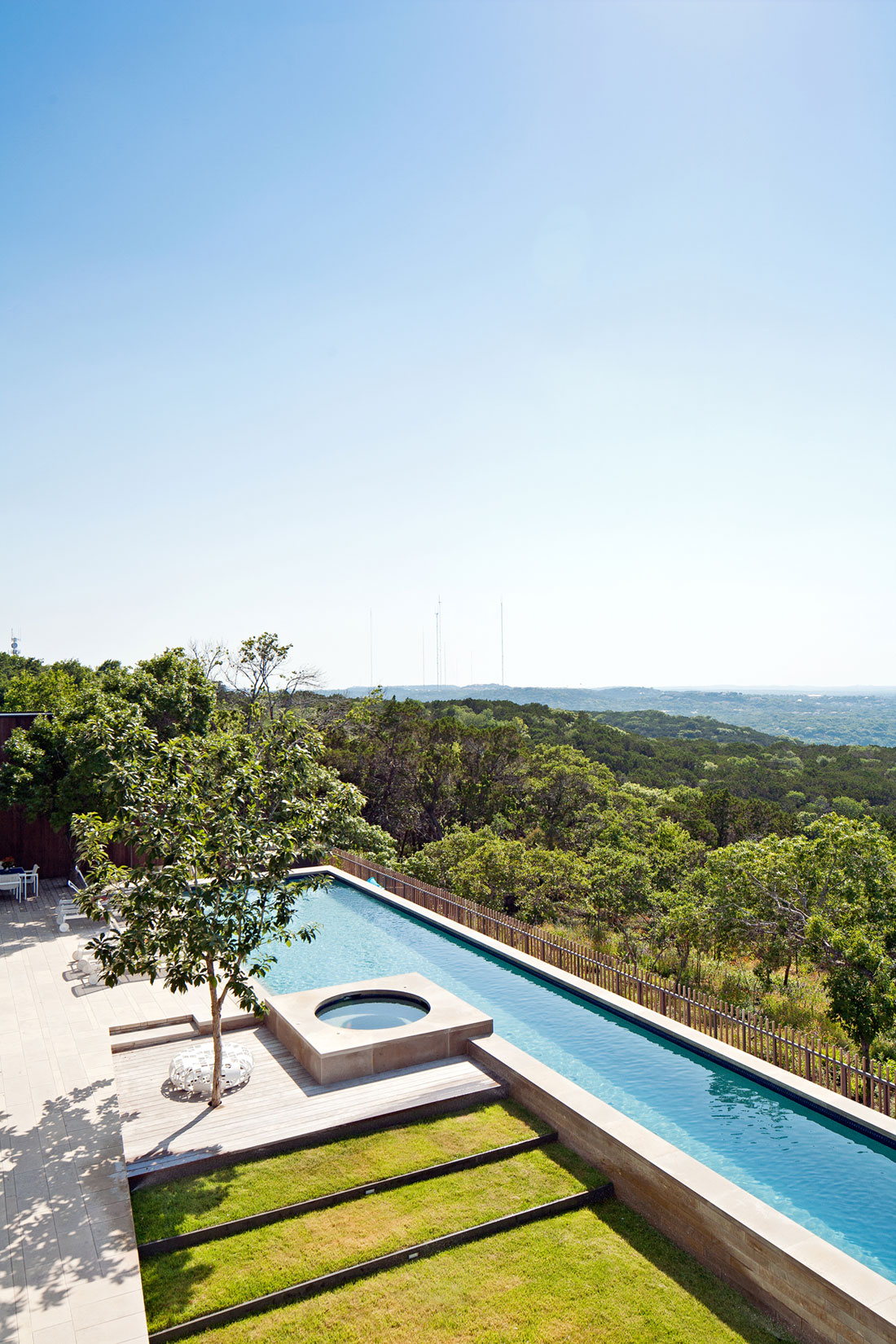 lake view residence pool and green roof