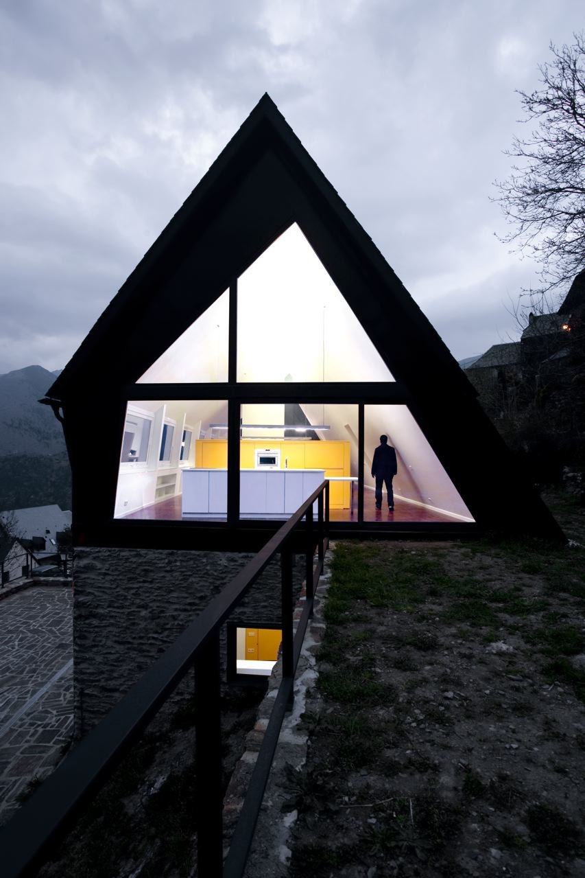 pyrenees home for two A frame structure