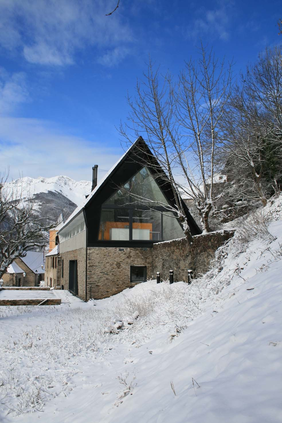 pyrenees home for two during winter