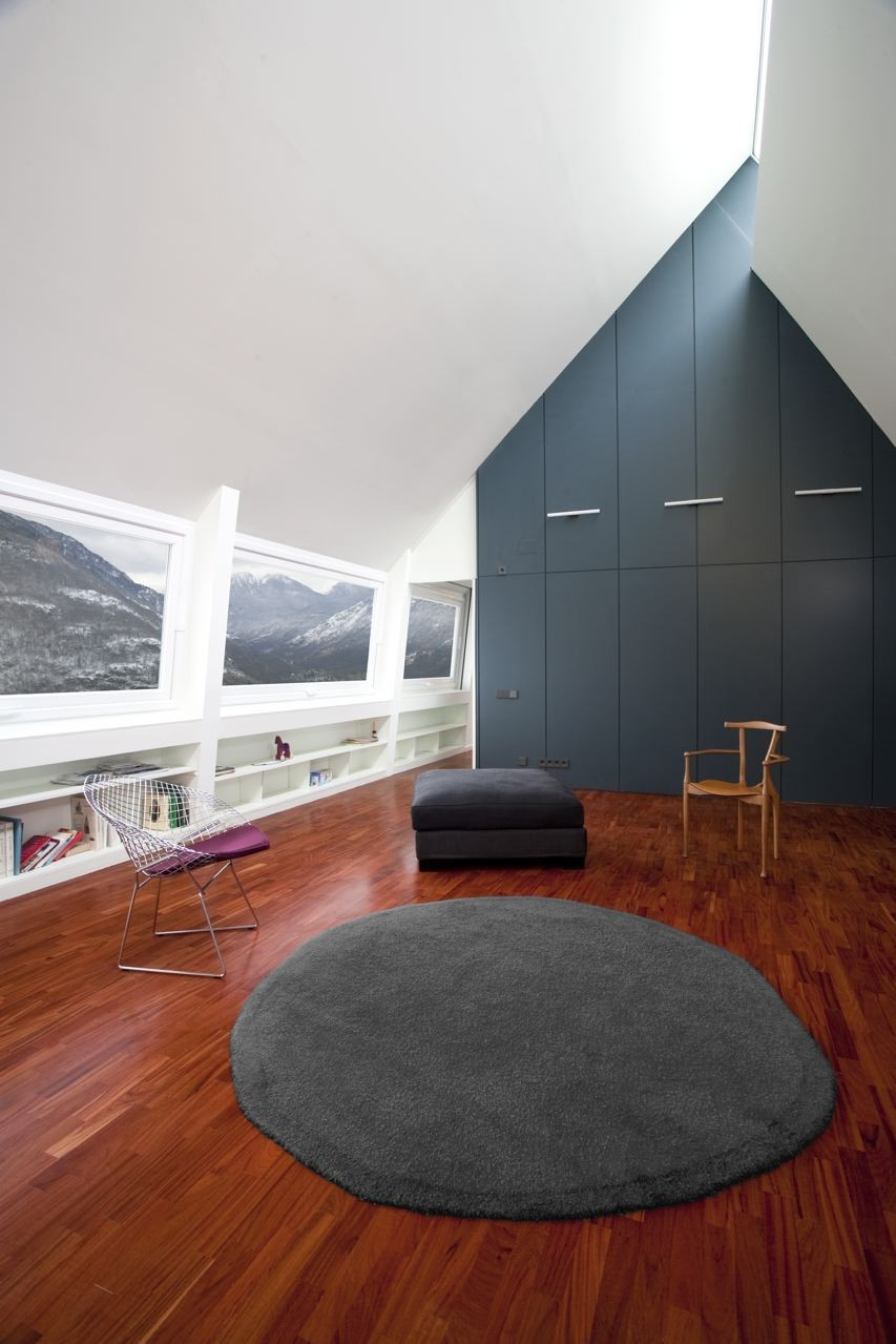pyrenees home for two gray accent wall