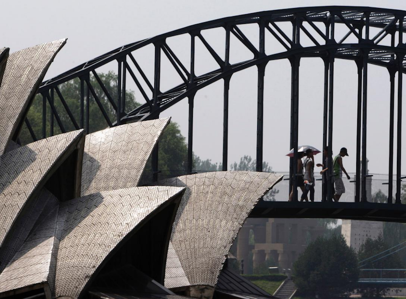 The design of the Sydney Opera House replicated in Beijing