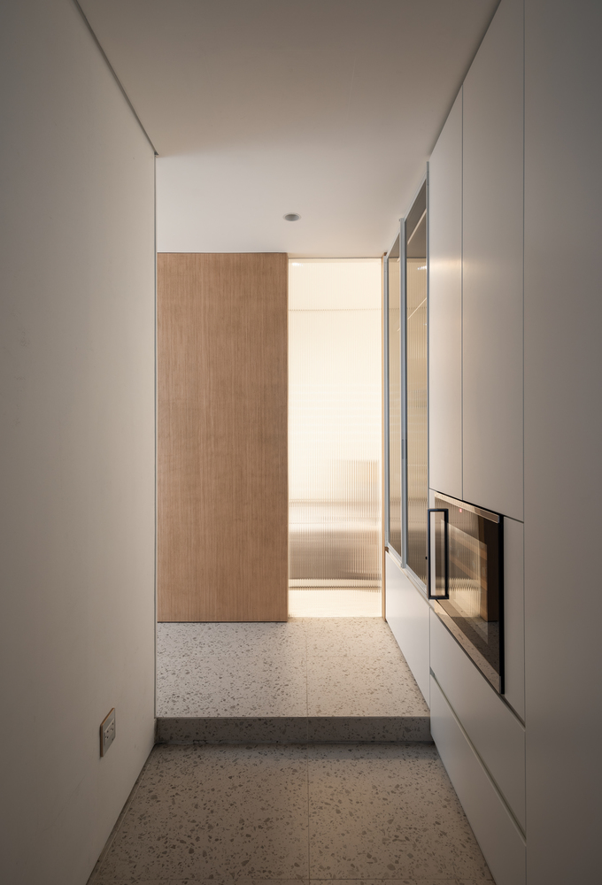 Although the interior design is very clean and simple, all the little areas have character