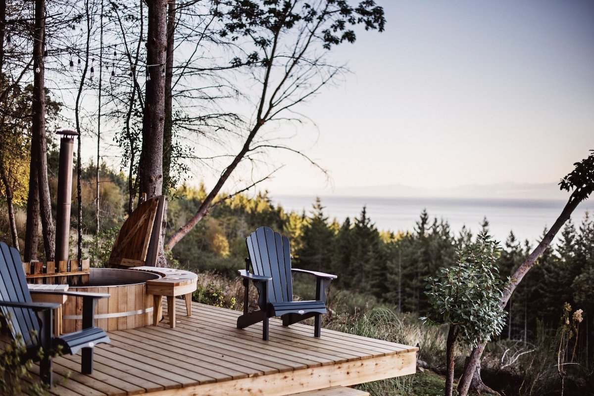This small wooden deck is the best place for admiring the panoramic views