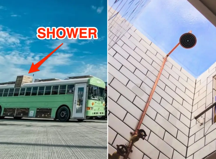 A Shower on a Bus