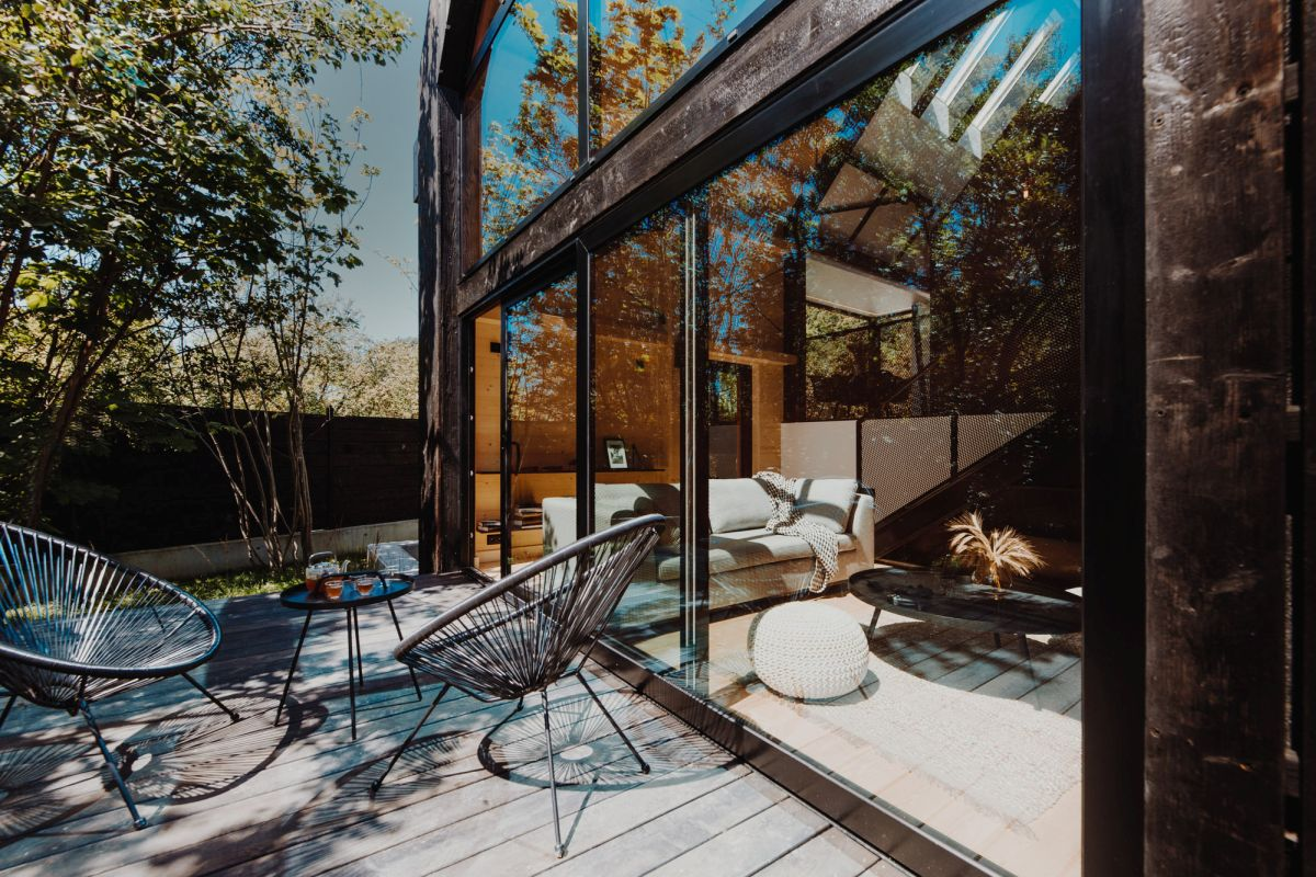 The indoor-outdoor transition is meant to be very natural and convenient