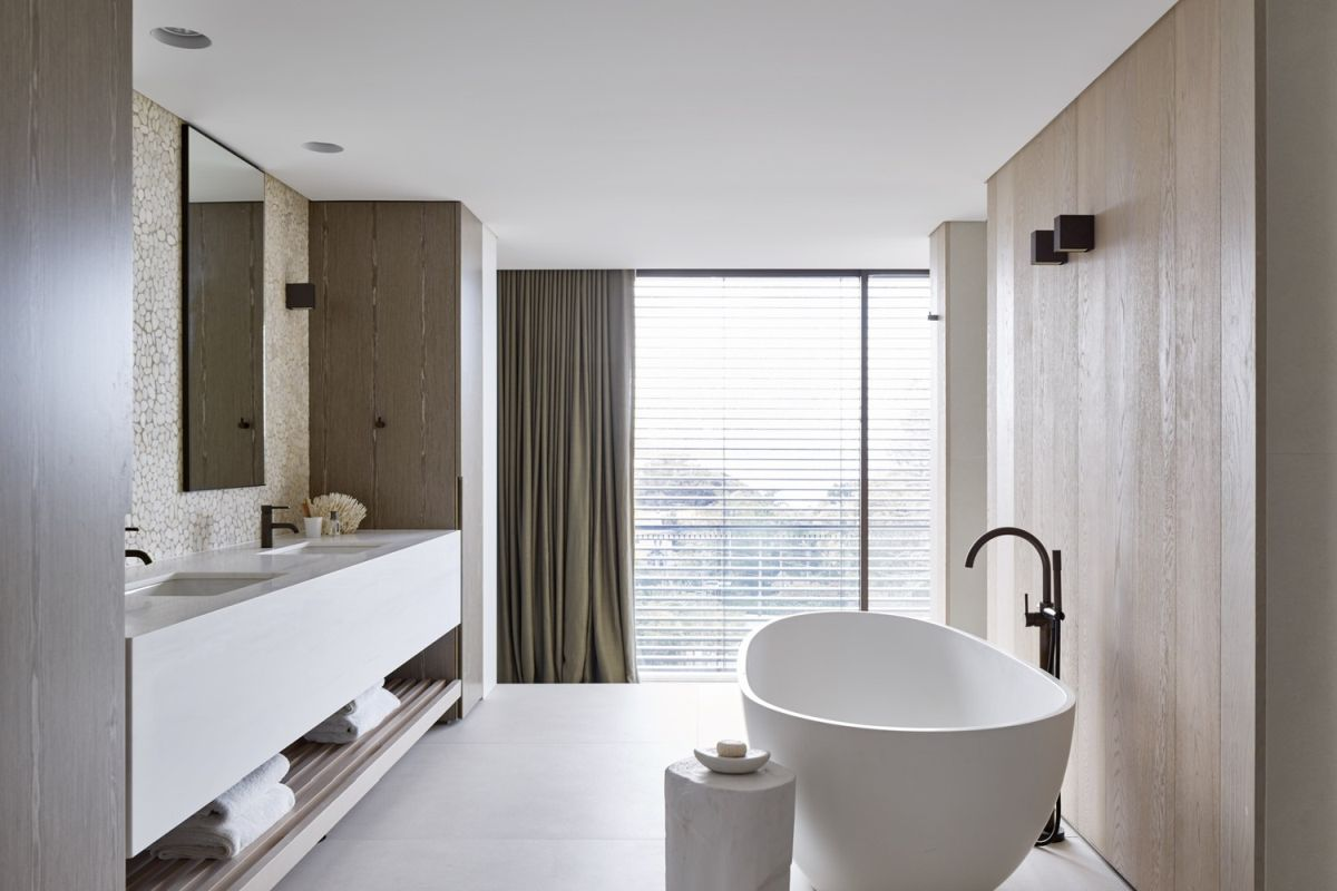 A light and airy bathroom like this is just like a spa