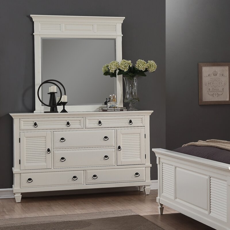 A retro dresser perfect for organized bedrooms