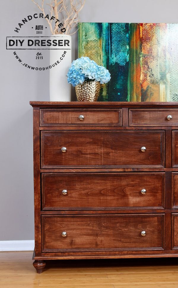 A solid dresser with lots of storage