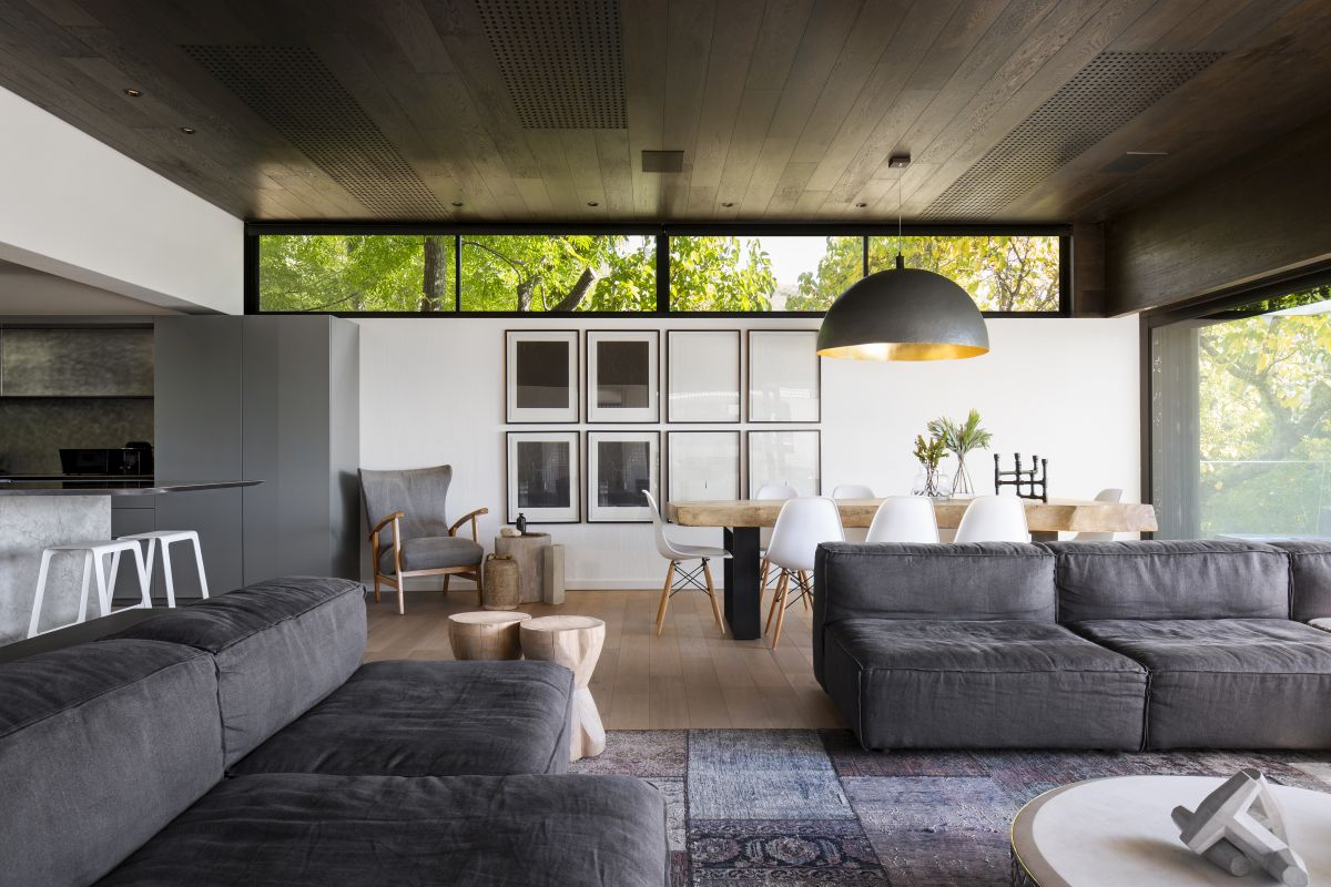 Clerestory windows bring light inside without overwhelming the spaces with its brightness