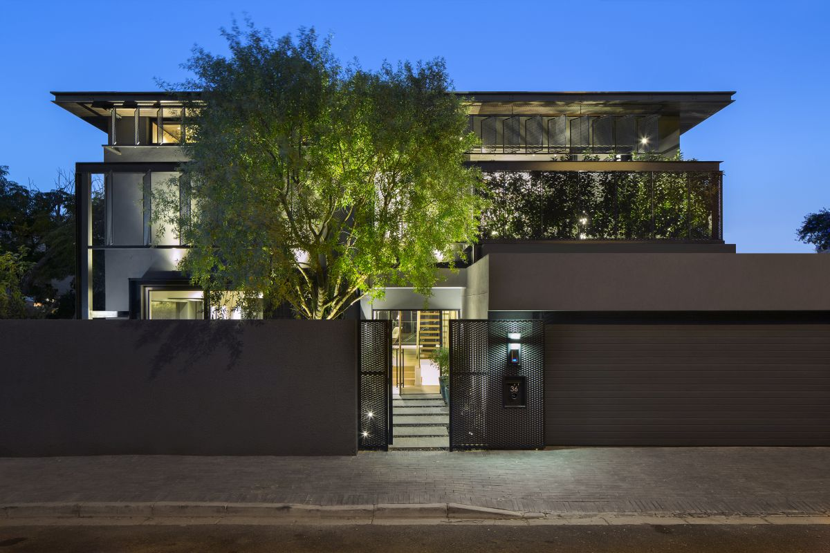 The residence has been completely remodeled, inside and out and its new look is a very attractive one
