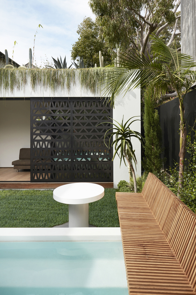 The rooftop garden amplifies the immersive feeling which this house offers