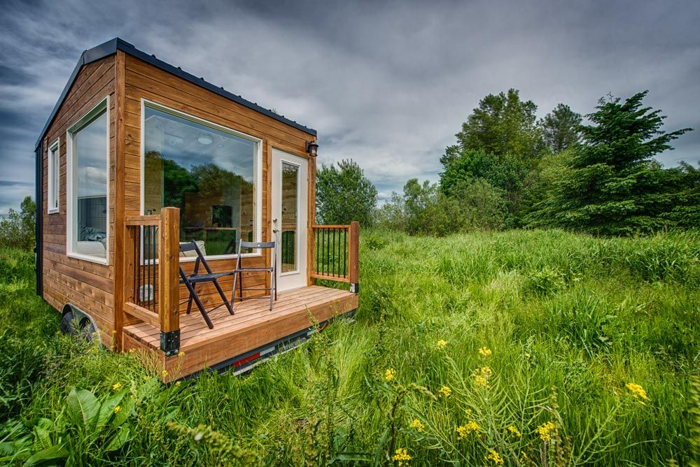 The Acorn is a tiny home on wheels with a compact interior of 90 square feet